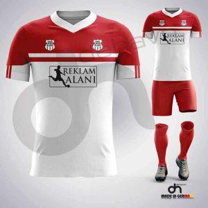 Asist Beyaz-Kırmızı Dijital Halı Saha Forma