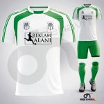 Zed Beyaz-Yeşil Dijital Halı Saha Forma