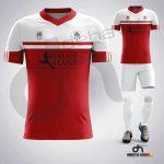 Asist Kırmızı-Beyaz Dijital Halı Saha Forma