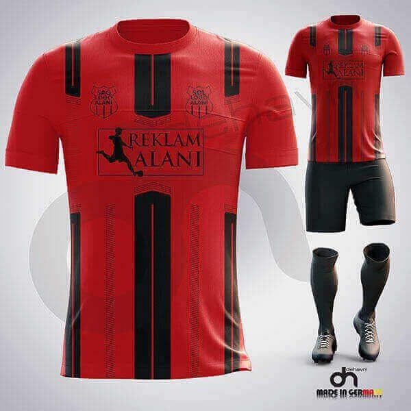 BVB Kırmızı-SiyahDijital Halı Saha Forma
