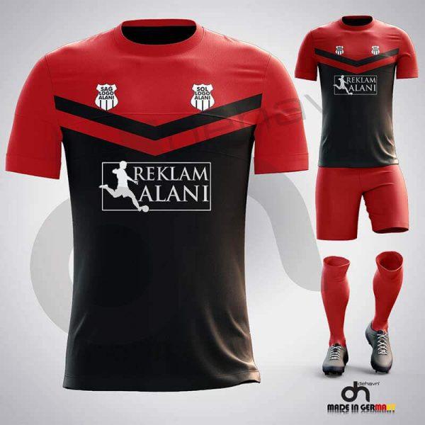 Victory Siyah-Kırmızı Dijital Halı Saha Forma