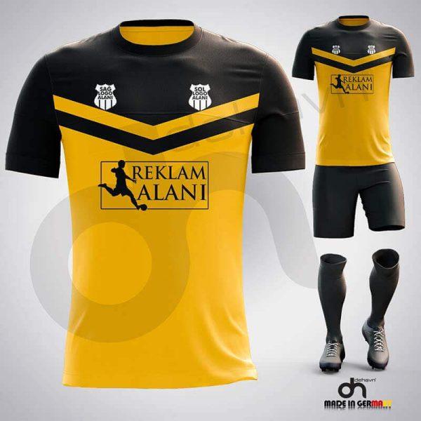 Victory Sarı-Siyah Dijital Halı Saha Forma