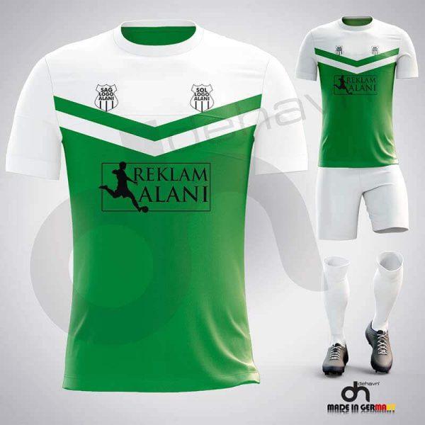 Victory Beyaz-Yeşil Dijital Halı Saha Forma