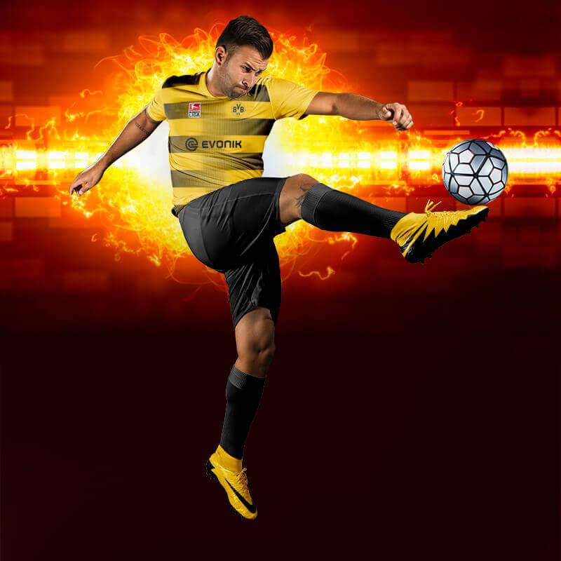 Dortmund Sarı-Siyah Dijital Halı Saha Forma